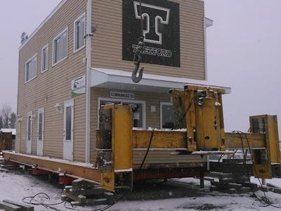 Déplacement du bâtiment des sports du CEGEP de Thetford Mines